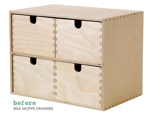 IKEA Moppe Drawers Before