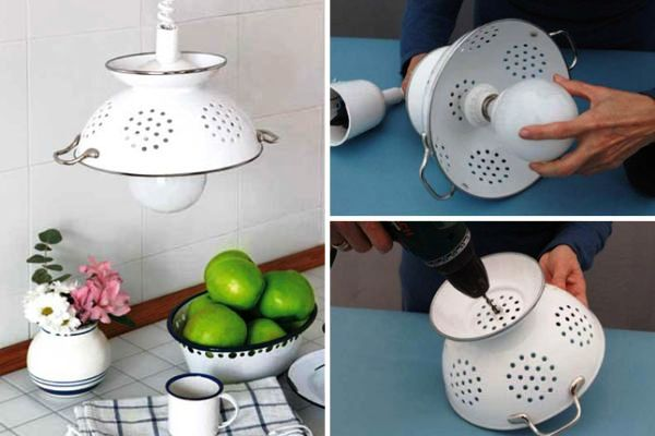 Cool-DIY-Pendant-Lamp-of-Enameled-Colander-with-Unique-Design-and-Decorating-Ideas