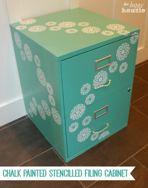 A-Chalk-Painted-Stencilled-Filing-Cabinet-at-The-Happy-Housie