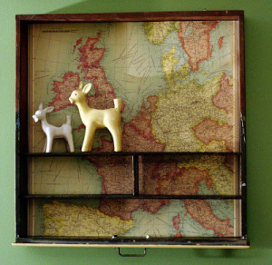 upcycled-map-drawer-shelf