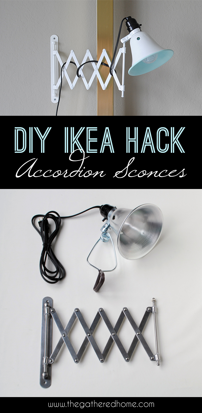 diy ikea hack accordion sconces. Black Bedroom Furniture Sets. Home Design Ideas