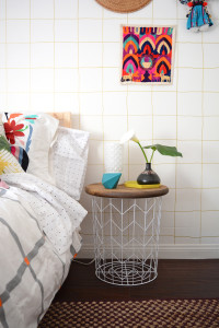 DIY Wire Basket Side Table 4