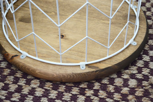 DIY Wire Basket Side Table 5