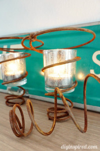 Repurposed-Bed-Springs-Candle-Holder