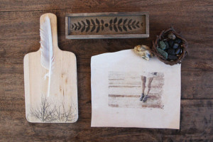 Photo-transfer-onto-paper-and-cutting-board