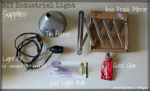 industrial light diy- supplies