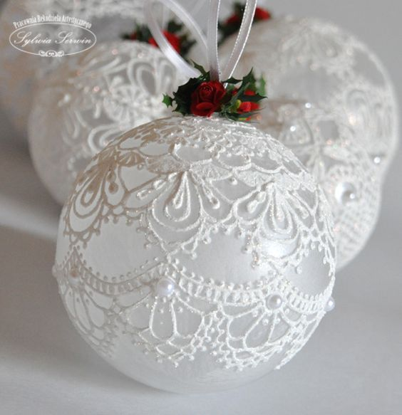 boule de noel dentelle | RALFRED'S BLOG DECO DIY