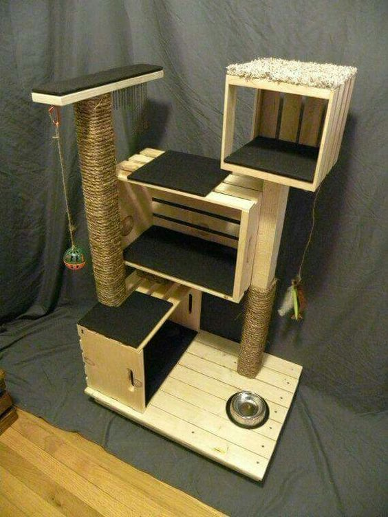 Arbre a chat en palette for Design your own cat tree