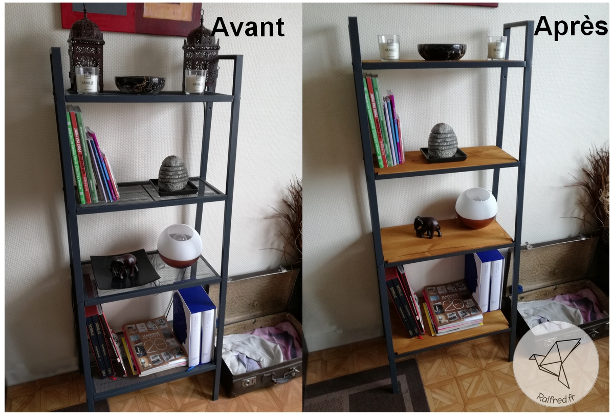 Transformation de l 39 tag re lerberg de ikea pour moins de 15 diy ralfred 39 s blog deco diy - Etagere ikea ...