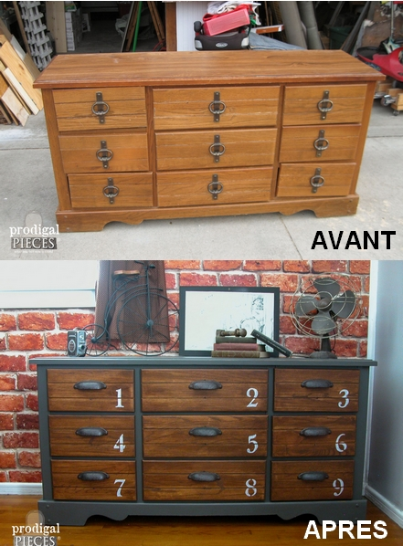 6 transformations de meubles g niales diy ralfred 39 s blog - Renover un meuble industriel ...