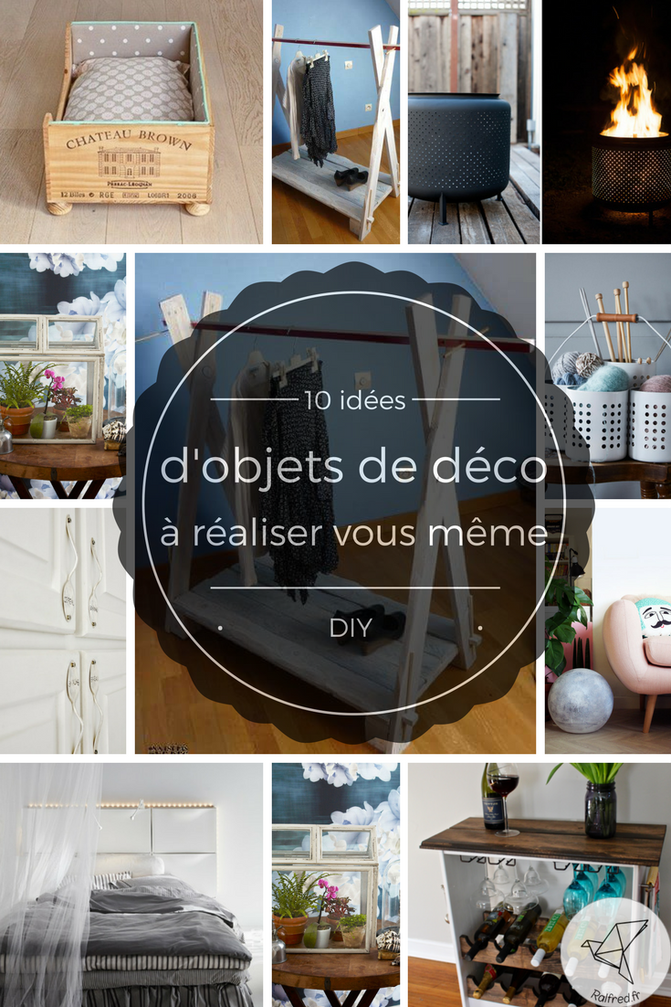 10 nouvelles id es d 39 objets de d coration faire en diy. Black Bedroom Furniture Sets. Home Design Ideas