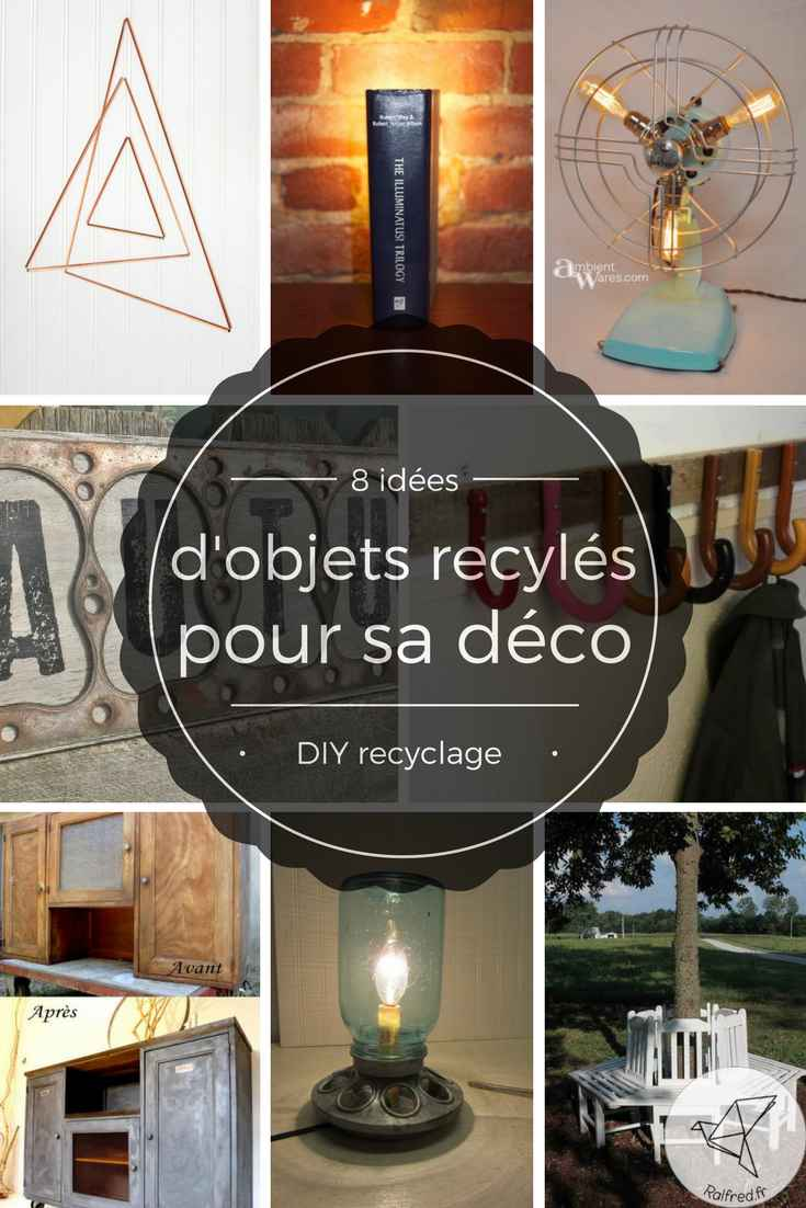 8 id es d 39 objets recycl s pour sa deco diy ralfred 39 s blog deco diy. Black Bedroom Furniture Sets. Home Design Ideas