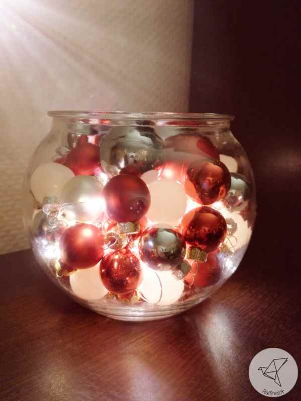 Centre de table de Noel DIY