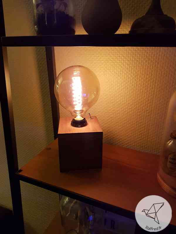 Réaliser une lampe de table style industriel DIY ralfred.fr